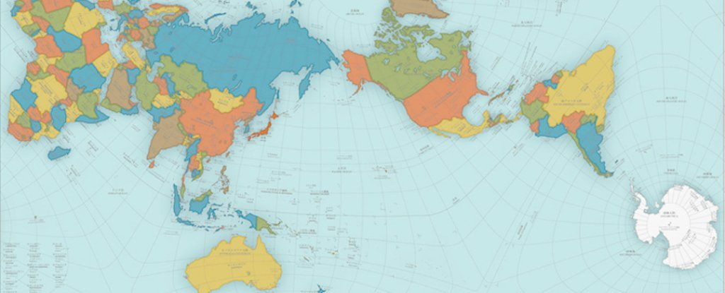 Accurately Proportioned World Map This Bizarre World Map Is So Crazily Accurate, It Actually Folds
