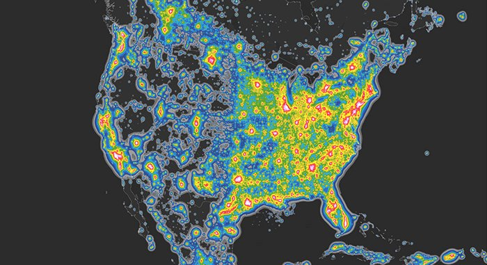 This Awesome Video Shows How Different The Night Sky Looks Without - Bortle map us