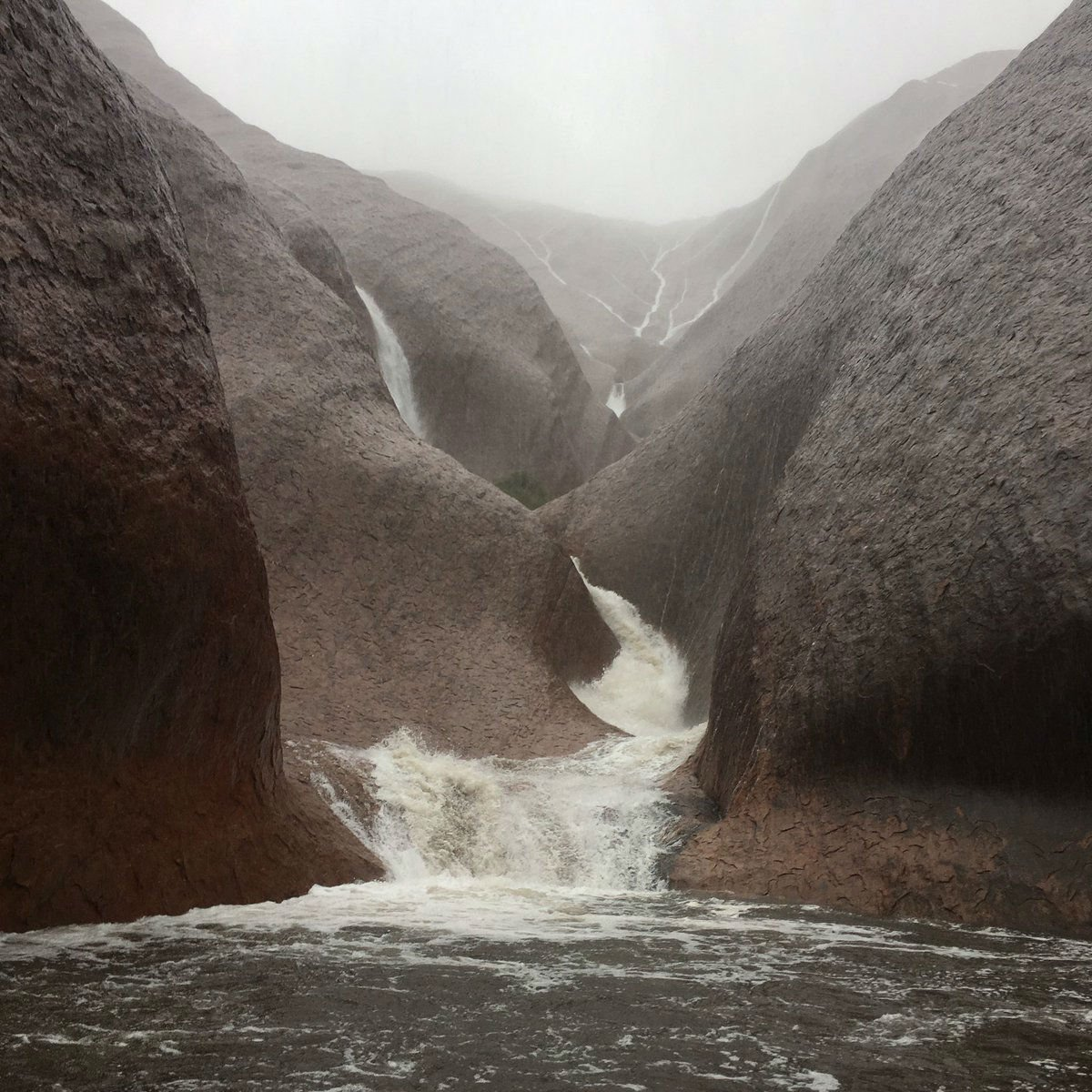 Uluru Became A Massive Waterfall After Extreme Rains