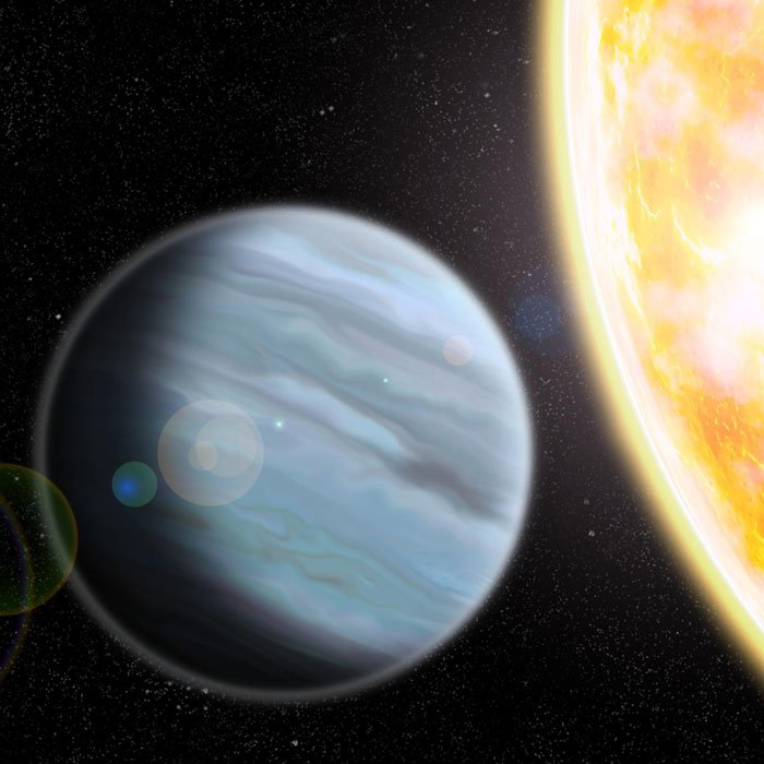 scientists have discovered a puffy exoplanet with the density of