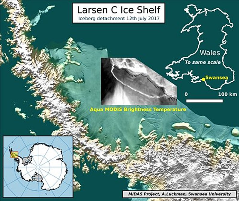 iceber larsen c has calved