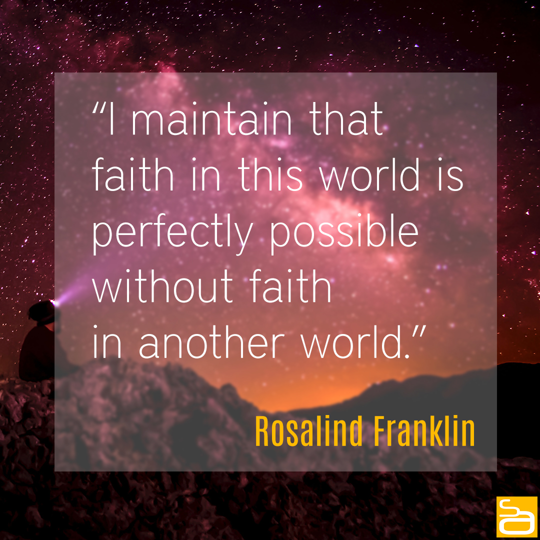 franklin faith in this world quote