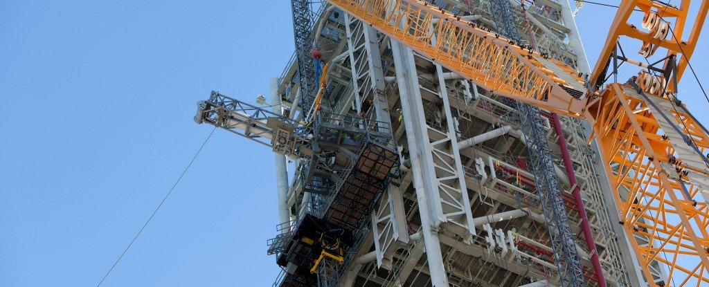 NASA's Very Expensive Rocket Launch Tower Is Leaning at a Precarious Angle
