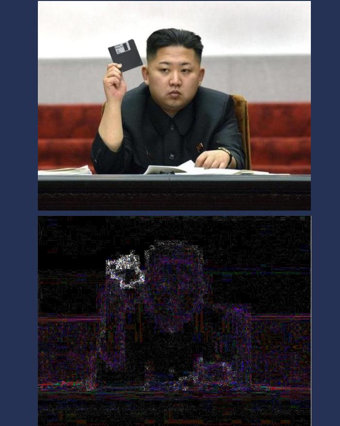 kim with floppy disk