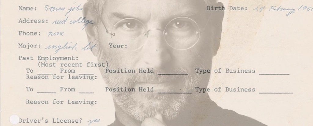 This Messy  Job Application By Steve Jobs Is Proof Anything Is