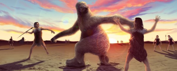 Fossilised footprints reveal that early humans once hunted giant sloths