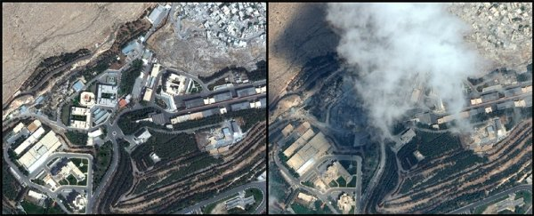 Satellite photos show what Syrian sites looked like before and after the US strikes
