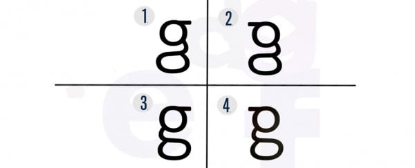 most people don t know what lowercase g looks like and we re not