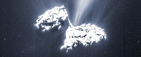 A stunning new video shows a comet's surface as it hurtles through space