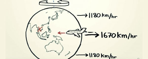 If Earth is spinning to the east, why isn't it faster to fly west?