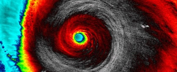 Lightning inside this ferocious hurricane blasted a beam of antimatter at Earth