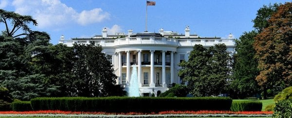 A sinkhole 'growing larger by the day' has developed on the White House lawn
