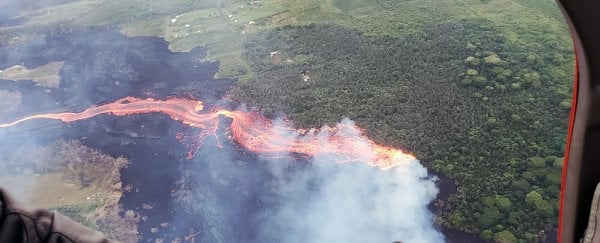 Hawaii's massive volcano eruption is now making the island larger