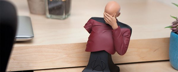 The official Picard facepalm bust makes daily life less futile