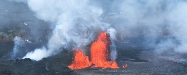 Hawaii's volcano is producing its own weather now, and it's amazing