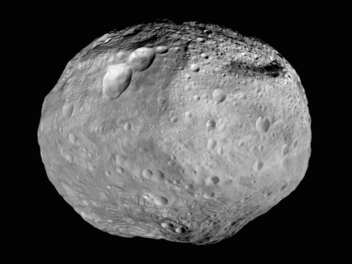 Vesta, the second-largest asteroid in the solar system (NASA/ JPL-Caltech/ UCLA/ MPS/ DLR/IDA)