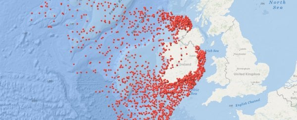 This map shows 3,554 shipwrecks around Ireland, and most are a total mystery