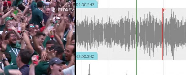 World Cup fans in Mexico triggered an artificial earthquake just by jumping