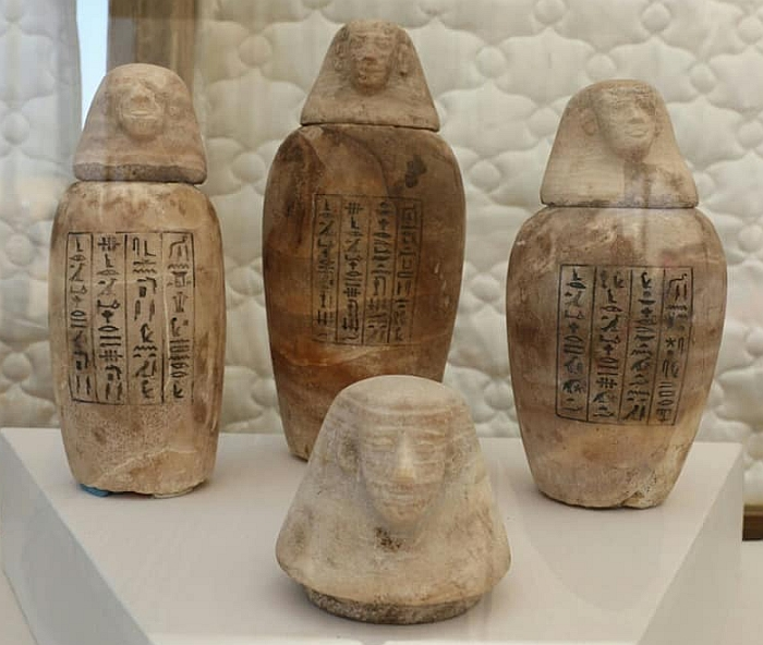 burial canopic jars 700
