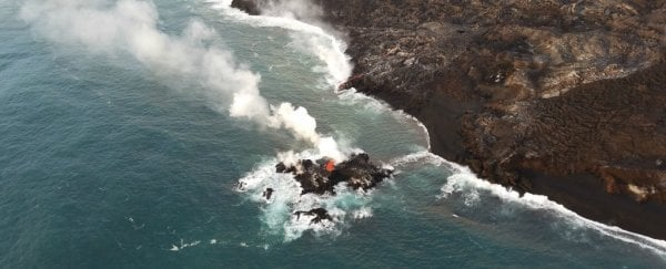 Hawaii's volcano has destroyed a boat with a lava bomb, injuring people