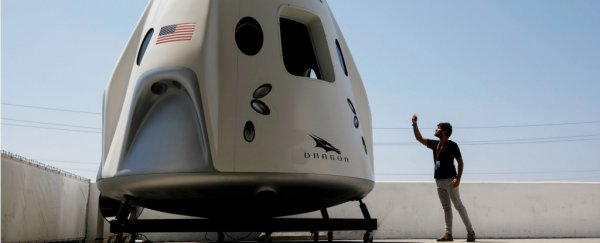 SpaceX just let people inside the Crew Dragon capsule, and introduced the first astronauts