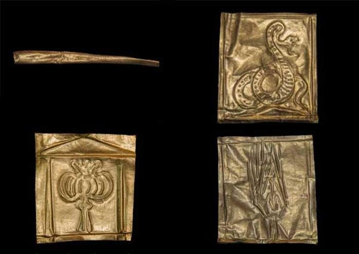 pannelli oro sarcofago 700