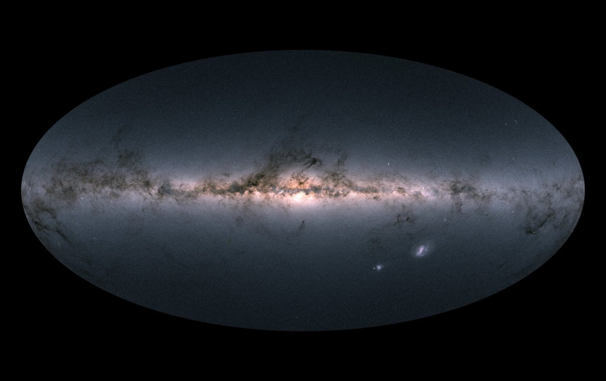 Gaia's all-sky view of our Milky Way Galaxy and neighbouring galaxies (ESA/Gaia/DPAC)