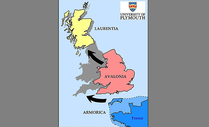 How the British Isles might have formed. (Plymouth University)