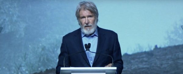 "Harrison Ford: ""Stop giving power to people who don't believe in science"""