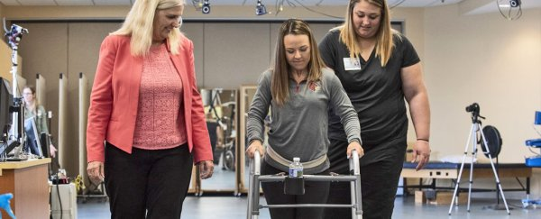 An incredible new therapy is helping paralysed people walk again