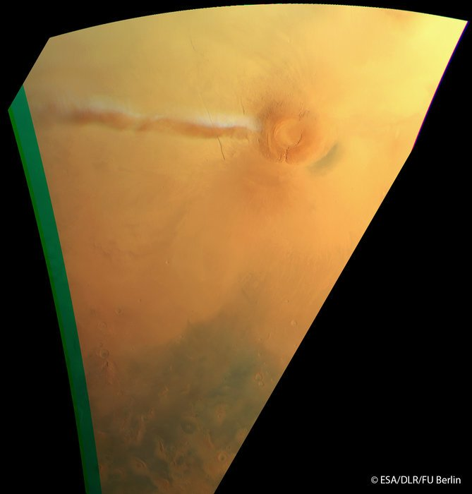 Elongated cloud on Mars taken on the 21 September