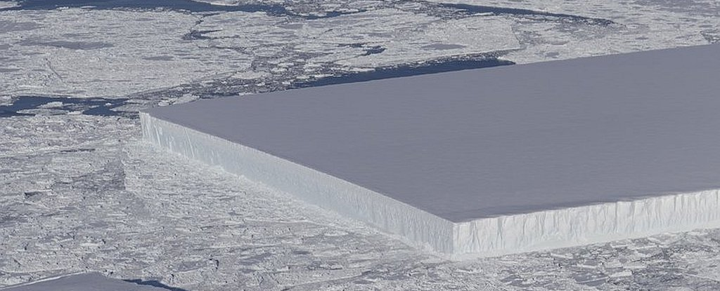Nature produces bizarrely square iceberg