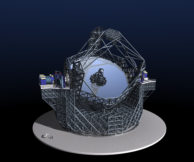 Artist impression of the Extremely Large Telescope's 39-metre (128-foot) mirror. (ESO)