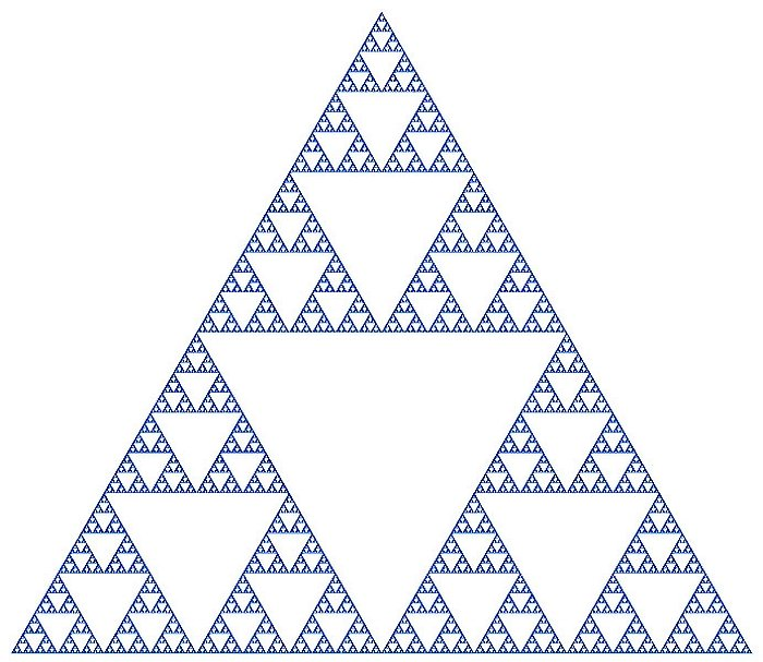 Sierpinski triangle blue