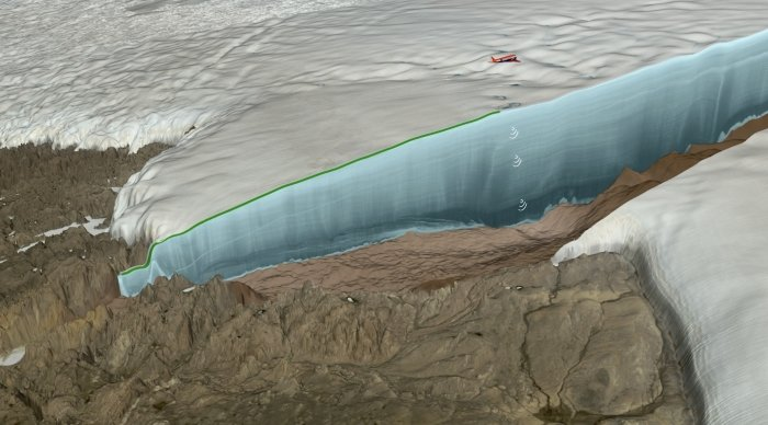 hiawatha glacier radar technique