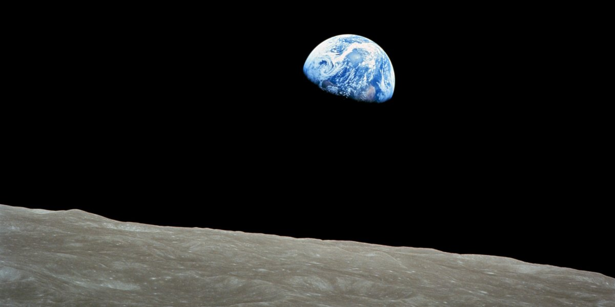 The famous 'Earthrise' photo taken by Apollo 8 astronauts (NASA)
