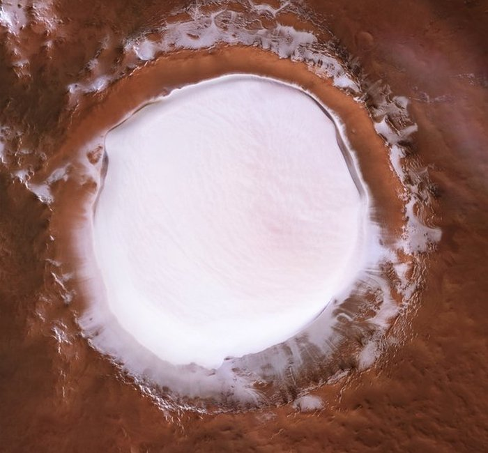 korolev crater top view
