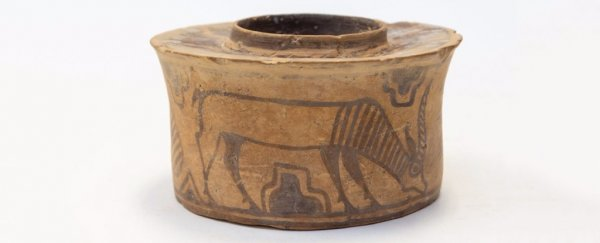 A man was using a 4,000 year old Indus Valley pot to hold toothbrushes