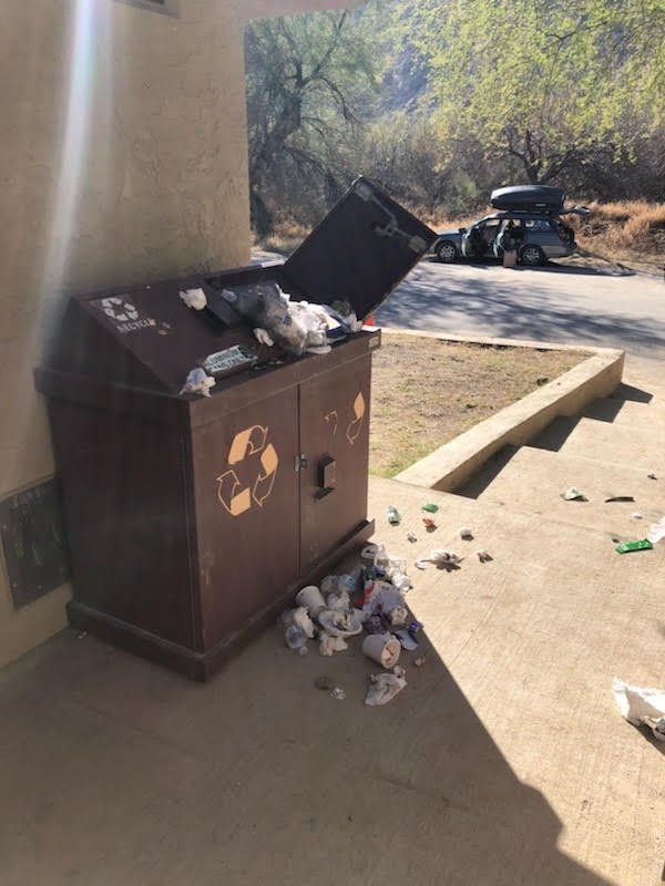 big bend national park in southwest texas has also seen its share of overflowing garbage