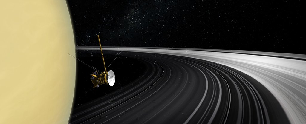 Last Readings From Dead Space Probe Reveal Something Surprising About Saturn's Rings