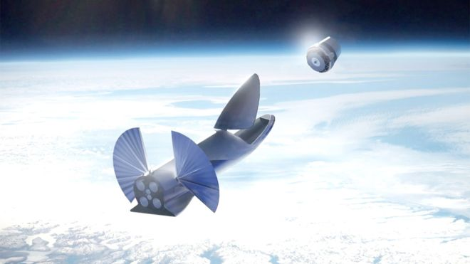 Artist's impression of SpaceX's Starship deploying cargo. (SpaceX)