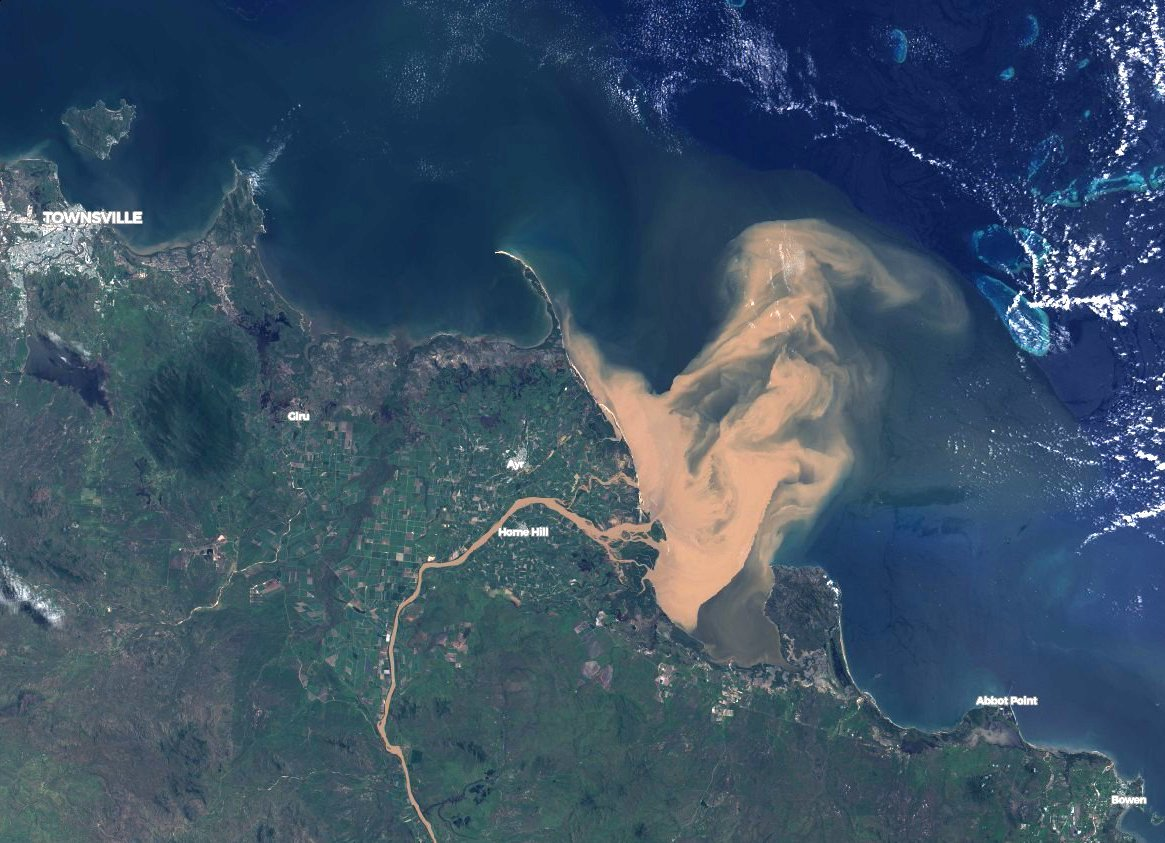 The Great Barrier Reef Was Just Hit by a Flood of Polluted Water Visible From Space thumbnail