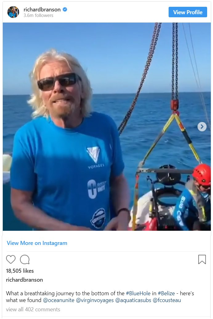 (https://www.instagram.com/p/Bq9y0nWhPtC/RichardBranson/Instagram)
