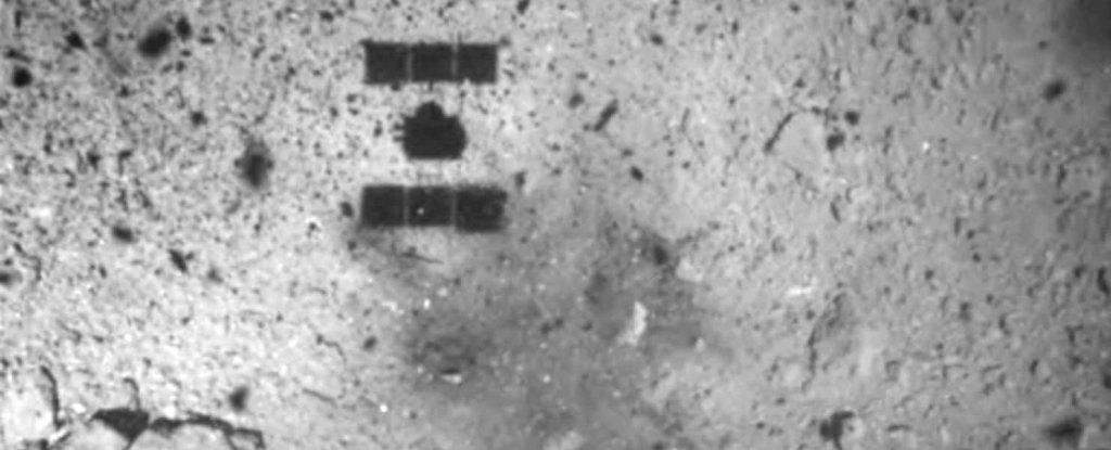 We Just Got an Insane Photo From Japan's Spacecraft After Sampling an Asteroid