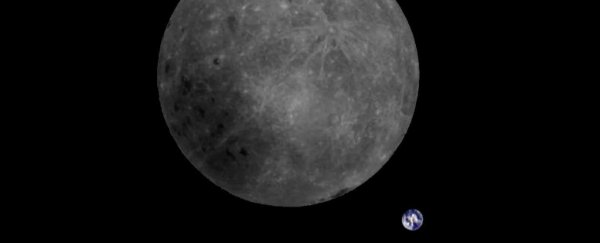 Breathtaking Photo Shows The Far Side of The Moon And Earth