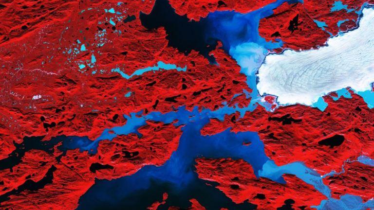 Nordenskiold Glacier Greenland ( Copernicus Sentinel data (2017)/ESA/CC BY-SA 3.0)