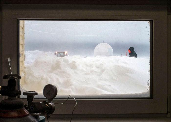 view through observatory window alaska
