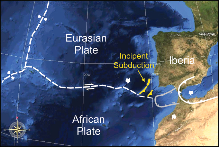 015 iberia subduction tectonic plate portugal 1