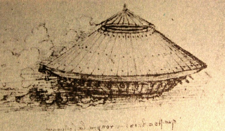 Prototype 'tank' from late 15th or 16th century (Da Vinci)