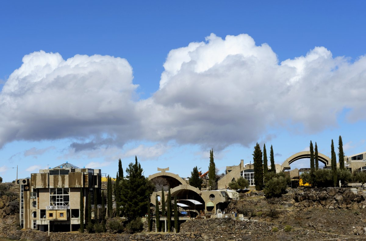 A view of Arcosanti in 2011. (Wolfgang Kaehler/LightRocket/Getty Images)